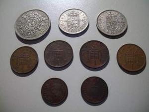 Lotto monete inglesi SHILLING e PENNY coin UK Inghilterra