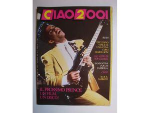 Musica Rivista CIAO  Anno  n.2 - Prince, Cher