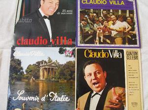 CLAUDIO VILLA in n.4 dischi in vinile a 33 giri