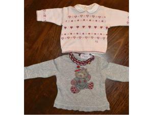 Due maglie di marca inverno neonata 3 mesi.