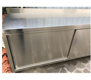 Tavolo acciaio armadiato usato posot class - Tavolo in acciaio inox usato ...