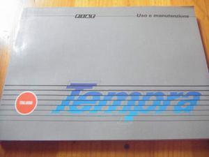 (356) - Fiat Tempra - Manuale Uso & Manutenzione