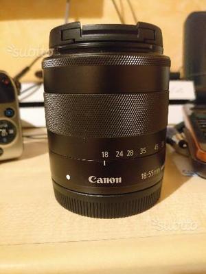 Canon Eos m + obbiettivi + accessori