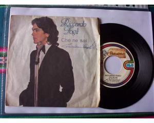"""Disco 45 giri: Riccardo Fogli """"Come una volta"""" - """" Che ne"""