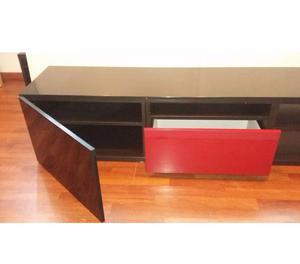 Ikea besta mobile basso marrone scuro 120x40x38 cm posot - Come decapare un mobile gia verniciato di marrone ...