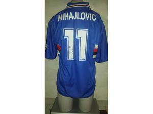 Maglia sampdoria 11 mihajlovic autografata calcio cod103