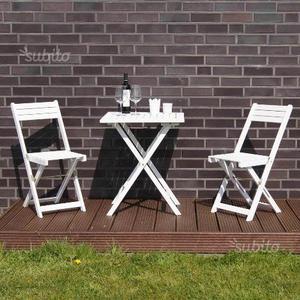 Tavolo con sedie da giardino GINEVRA