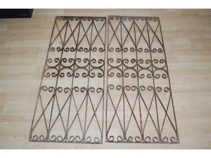 Antico cancelletto in ferro battuto 2 battenti 90x111 cm
