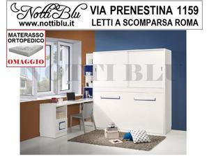 Letti a Scomparsa _ letto 1 piazza e mezza design Roma