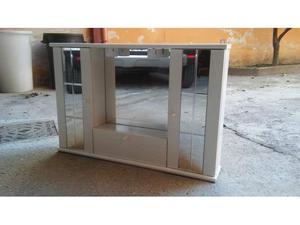 Mobiletto Bagno con specchio Bianco 80 x 55 cm