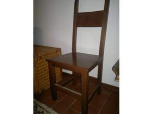 N.4 sedie in massello.