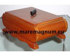Scatola in legno massello di ciliegio di periodo deco'