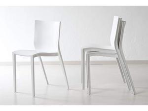 Sedia design bianca e verde | Posot Class