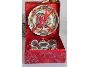 Servizio da the grappa sake ceramica cinese giapponese