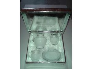 Set regalo zuccheriera con due tazze da' te' Welkhom / Nuovo