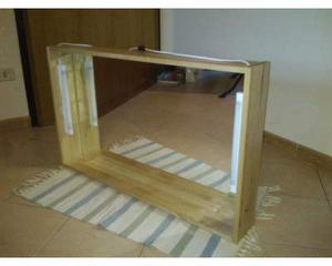 Specchiera bagno in legno (100x60x14)
