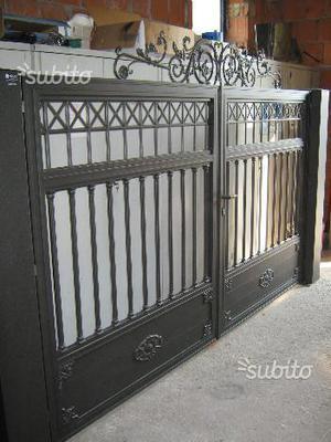 Cancello alluminio stile ferro battuto