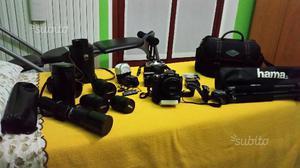 Nikon D80 + corredo obbiettivi cavalletto
