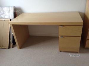 Scrivania malm ikea posot class for Ikea malm scrivania