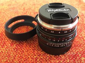 Voiglander 40 mm f 1.4 manual focus
