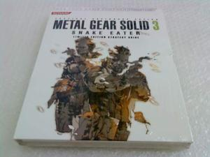 Metal Gear Solid Snake Eater libro manuale guida limited