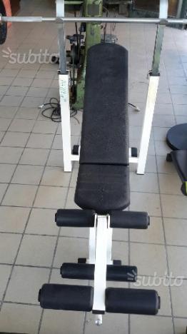 Panca piana bilancere pesi