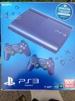 PS3 Slim 500GB Blue Limited Edition