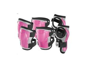 Sg-56r set protezioni imbottite junior rosa per ginocchia,