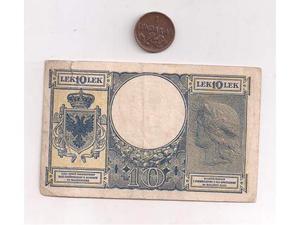 "Banca nazionale D""albania 10 lek"