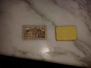 Gomme mulino bianco tavolozza pittore- tegolino-francobollo