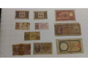 Lotto 10 antiche banconote Repubblica Italiana