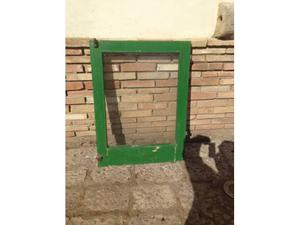 Vecchia anta pannello di finestra in legno massello SPEDISCO