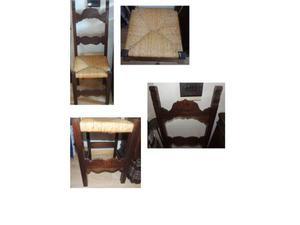 6 eleganti sedie in legno massello