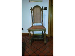 Antiche sedie in legno e paglia di Vienna