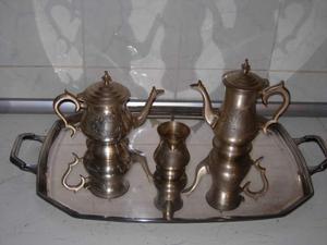 Antico set teiera caffettiera e lattiera Sheffield E.P.N.S.
