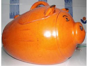Maialino da forno cuociarrosto porcellino in terracotta