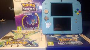 Nintendo 2DS Pokemon Luna + 2 Giochi Pokemon