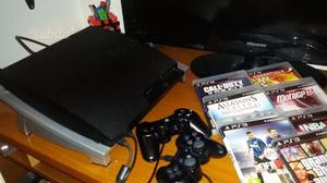 Ps3 slim 160 gb + 7 giochi + 2 joypaid