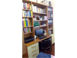 Libreria con scrivania estraibile incorporata posot class for Libreria con scrivania incorporata