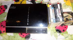 Sony Playstation 3 ps3 fat 80 gb con 10 giochi