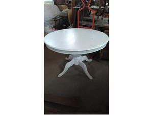 Tavolo rotondo bianco posot class - Tavolo rotondo bianco allungabile ikea ...