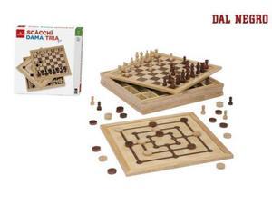 Dal negro scacchi dama tria leg.