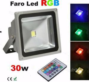 Faro led 30w multi color da esterno interno