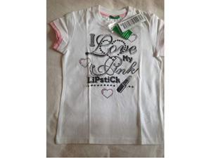 T-shirt Benetton per bambina 5-6 anni nuova
