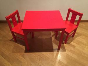Tavolino e due sedie ikea per bambini torino posot class for Sedie in legno ikea