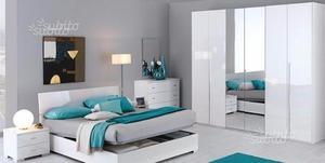Camera da letto bianca economica pronta posot class for Camera da letto economica