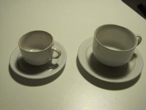 Servizio caffe' the porcellana bianca