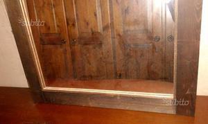 Specchio in legno rettangolare