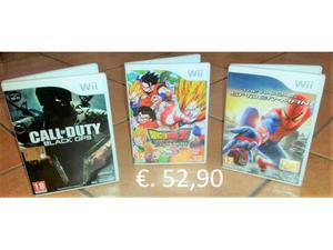 TRE giochi Nintendo Wii: Call of Duty Dragon Ball Spider Man