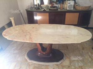 Tavolo antico in marmo rosa